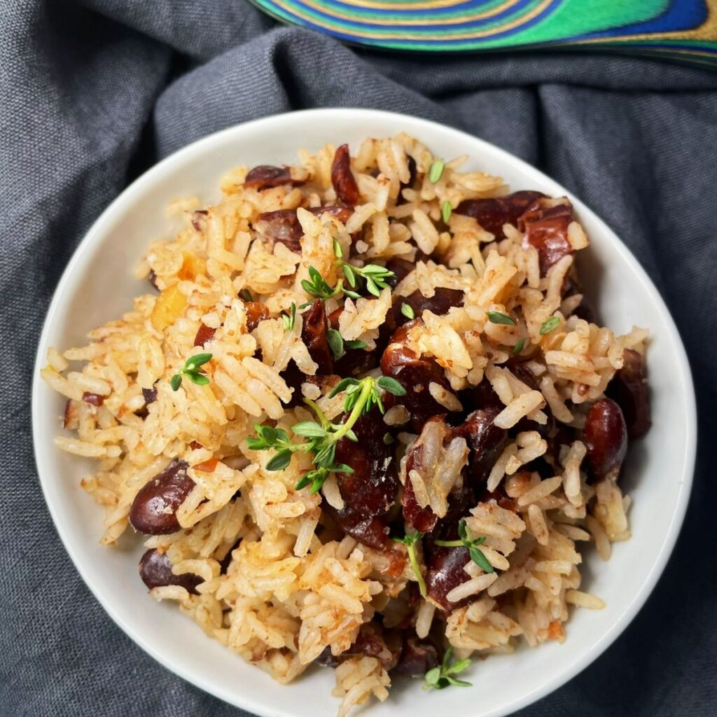 Jamaican Instant Pot Rice and Peas