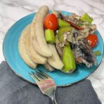 Boiled Green Bananas and Jamaican Salt Mackerel
