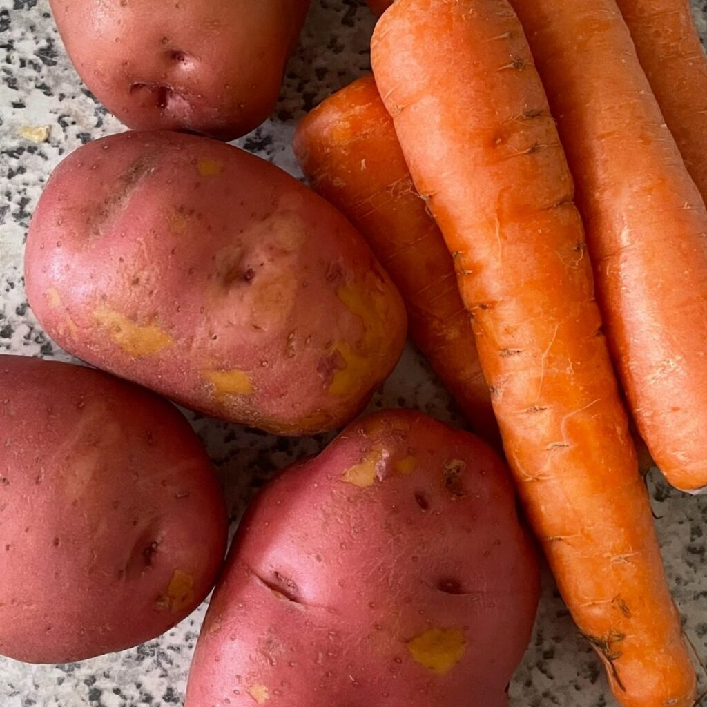 Red Potatoes and Orange Carrots