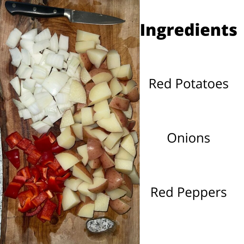 Ingredients for Home Fries