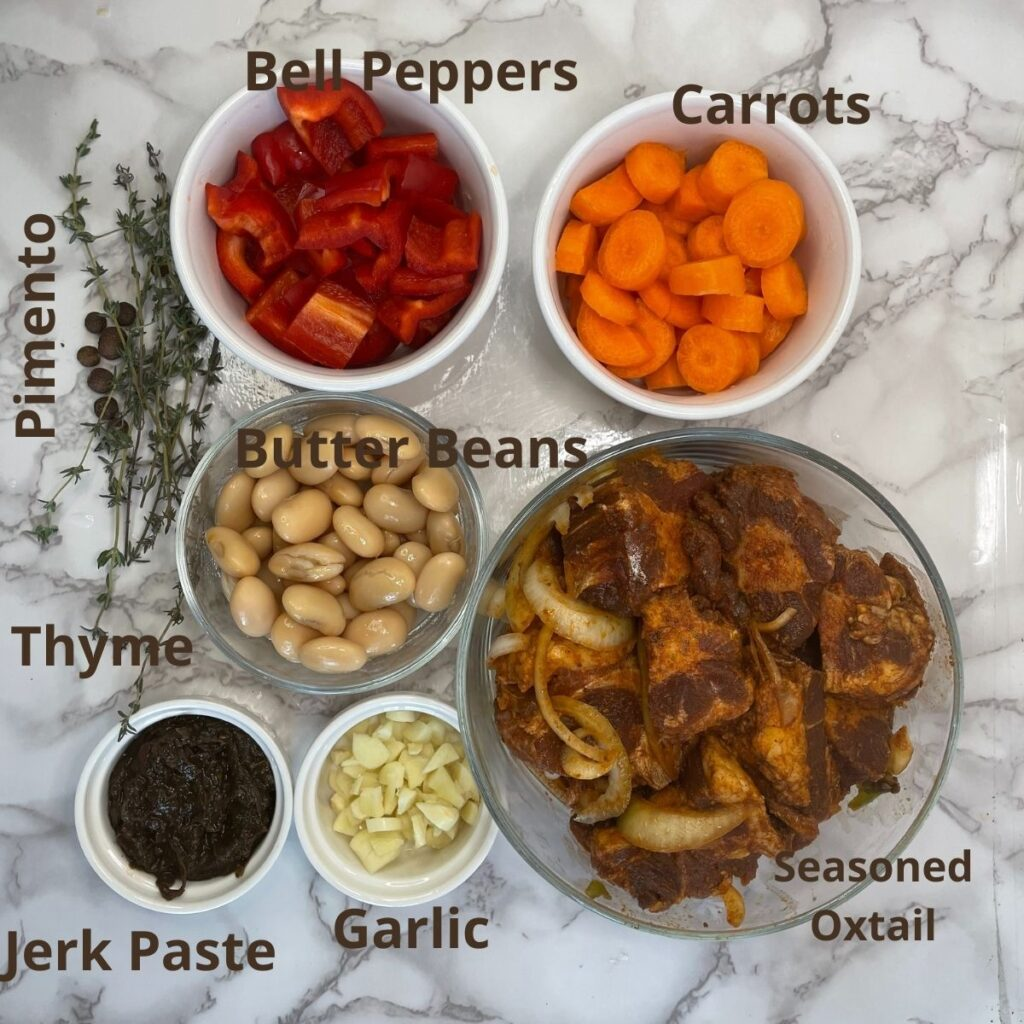 Oxtail and Butter Beans Ingredients