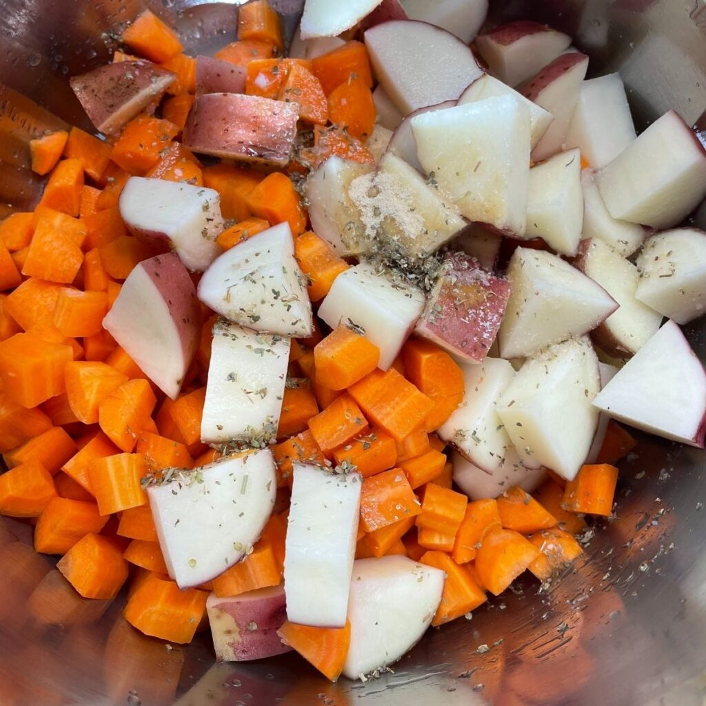 Ingredients for Instant Pot Potatoes and Carrots