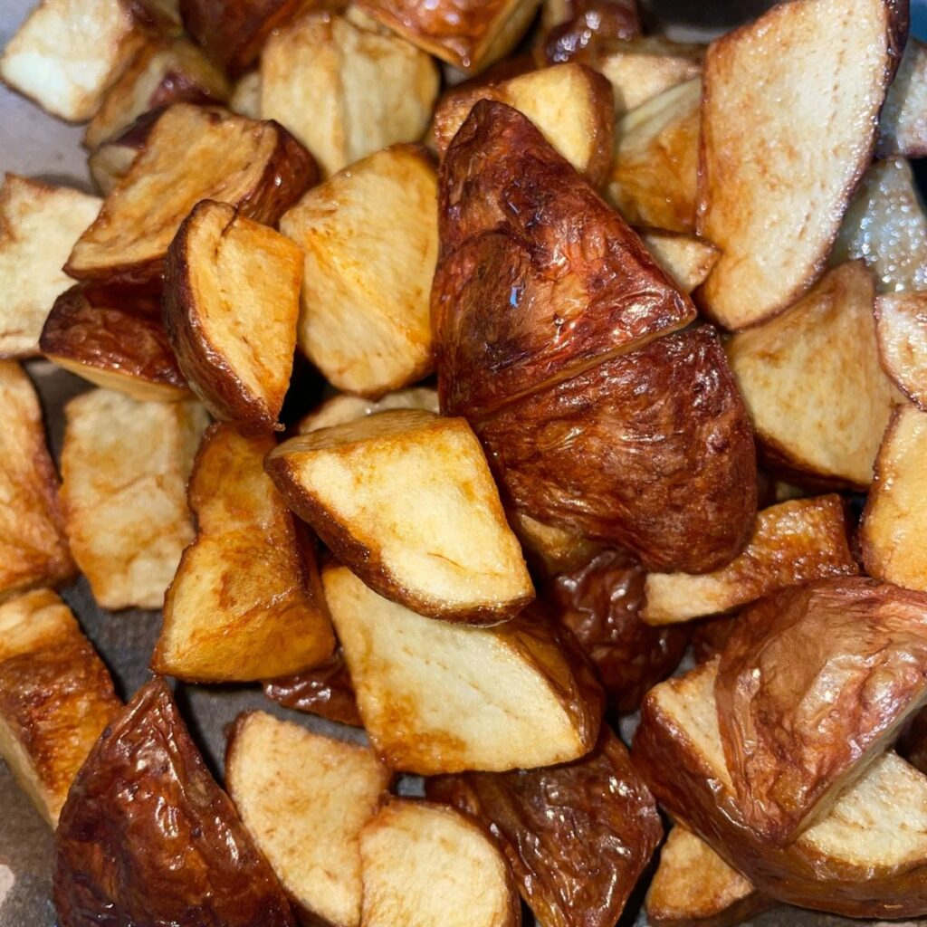 Golden Brown Red Potatoes for Home Fries
