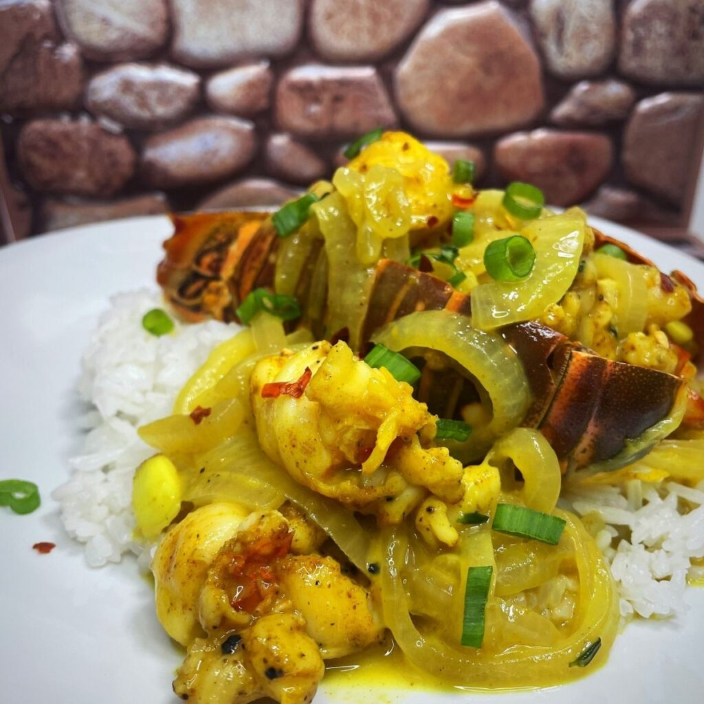 Coconut Curry Lobster In Shell