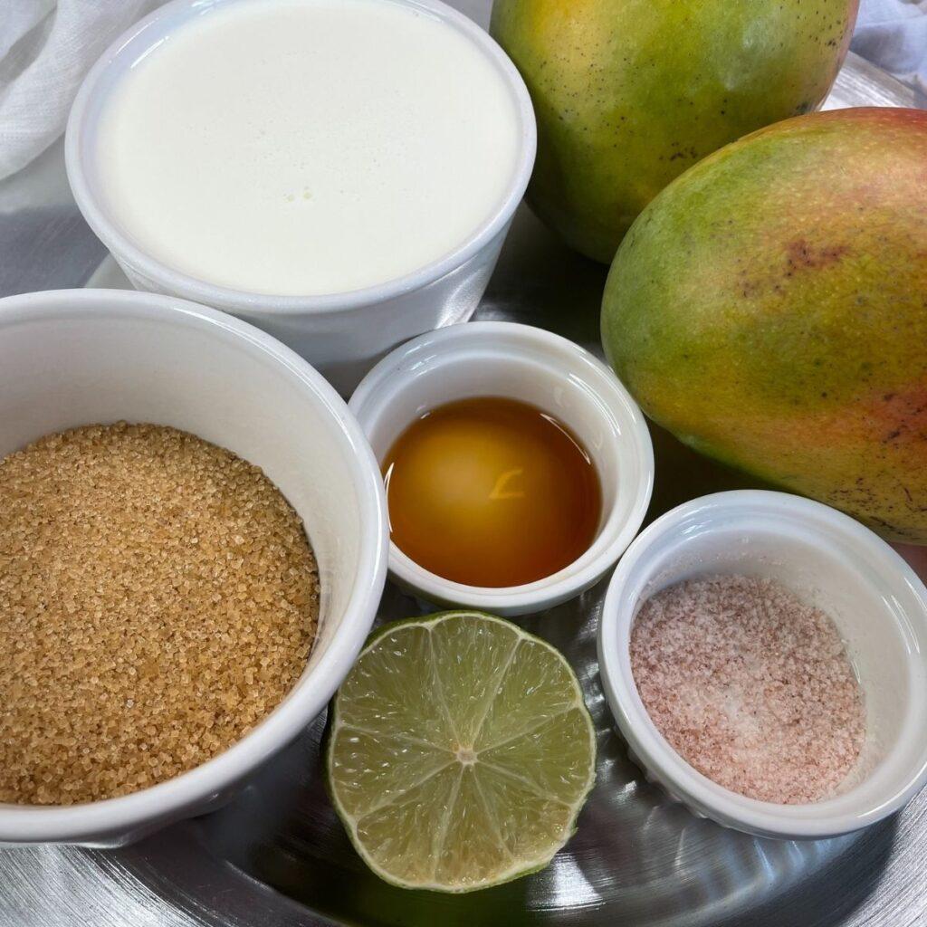 Homemade Mango Ice Cream Ingredients