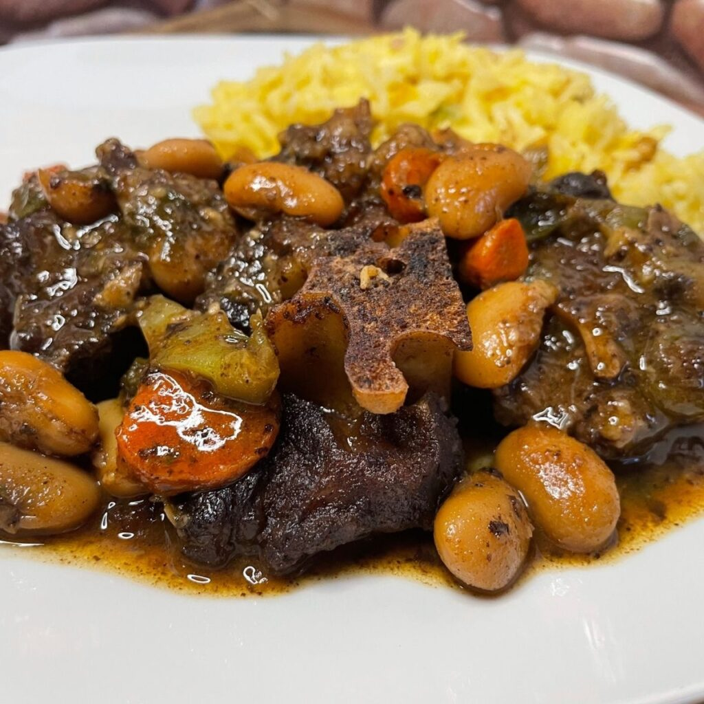 Jamaican Oxtail with Butter Beans