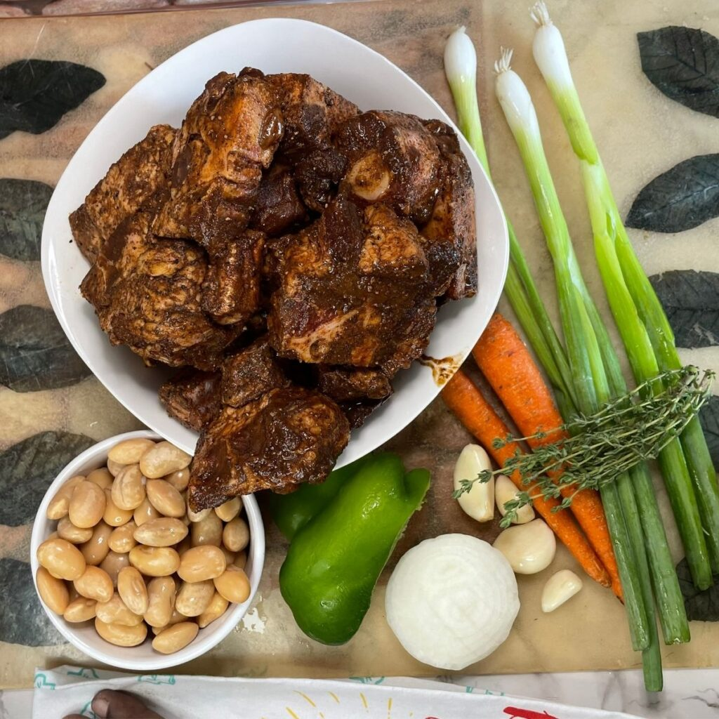 Jamaican Oxtail Ingredients