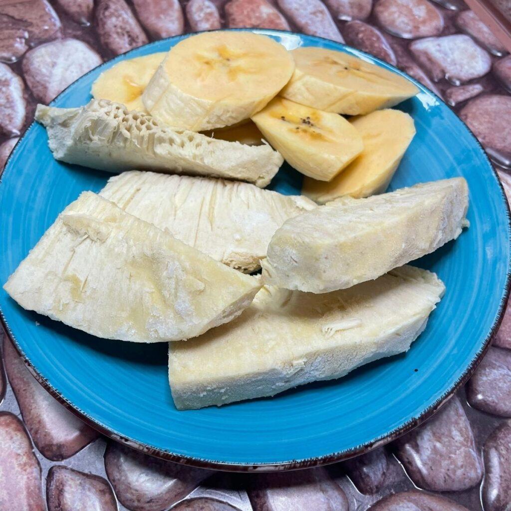 Roasted Breadfruit and Ripe Plantain